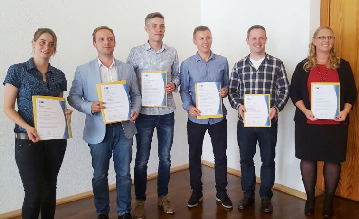 Erfolgreiche Absolventen der REFA Hessen - Gepr. Logistikmeister IHK