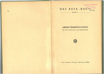 Drittes REFA-Buch Band 1 innen