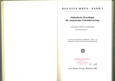 Drittes REFA-Buch Band 3 innen
