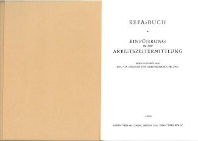 Erstes REFA-Buch innen